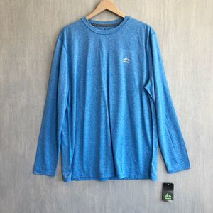 NWT RBX long sleeve athletic tee blue XL